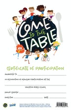 VBS 2021 Come To The Table Student Participation Certificate